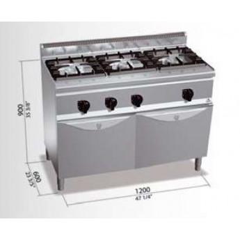 Cocina industrial Bertos G6F3H12+FG1