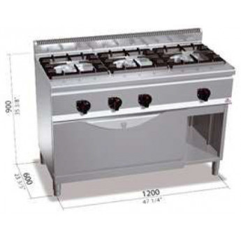 Cocina industrial Bertos G6F3H12+T