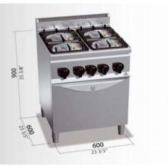 Cocina industrial Bertos G6F4PW+FG1