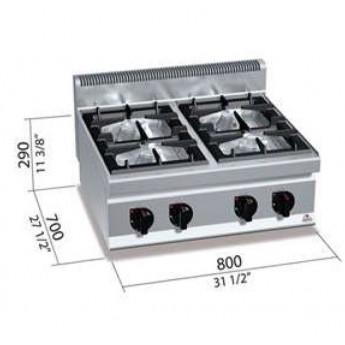 Cocina industrial Bertos G7F4B