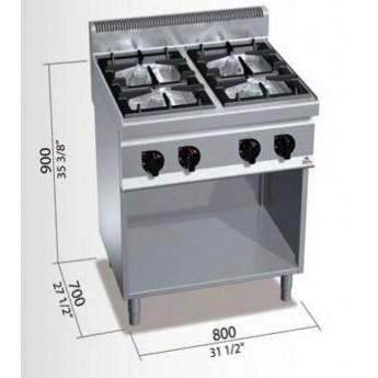 Cocina industrial Bertos G7F4M