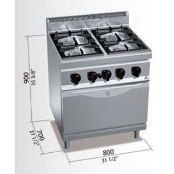 Cocina industrial Bertos G7F4+FG