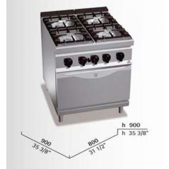 Cocina industrial Bertos G9F4+FG