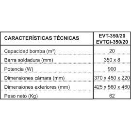 ENVASADORA AL VACIO PROFESIONAL IRIMAR EVT-350/20