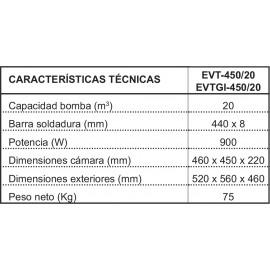 ENVASADORA AL VACIO PROFESIONAL IRIMAR EVT-450/20