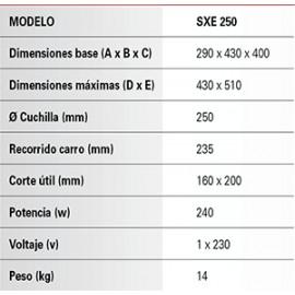 Cortadora de fiambres Romagsa SXE-250