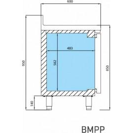 INFRICO BAJO MOSTRADOR de congelación BMPP1500BT