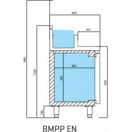 INFRICO BAJO MOSTRADOR PARA PREPARACIONES BMPP1500EN