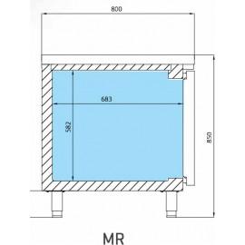 INFRICO BAJO MOSTRADOR de congelación MR1620BT