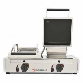 SANDWICHERA HOSTELERIA Vitro-grill doble con tapa GV-10LA de SAMMIC.