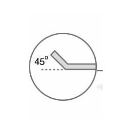 Bandeja lisa aluminio antiadherente perforado 400x300 borde 45 grados