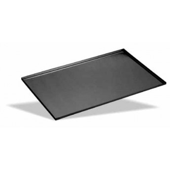 Bandeja lisa aluminio antiadherente 400x300 borde 90 grados