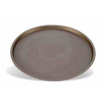 Bandeja para pizza redonda y lisa de aluminio antiadherente diam.24cms