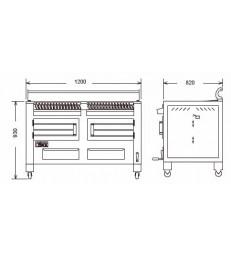 Barbacoa de brasa BBQ-M120 de Pira