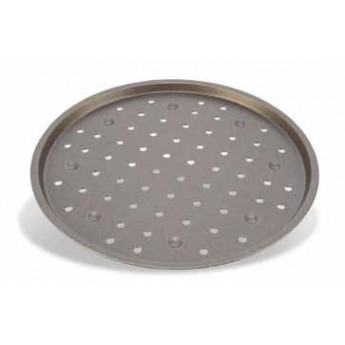 Bandeja para pizza redonda perforada de aluminio antiadherente diam.30cms