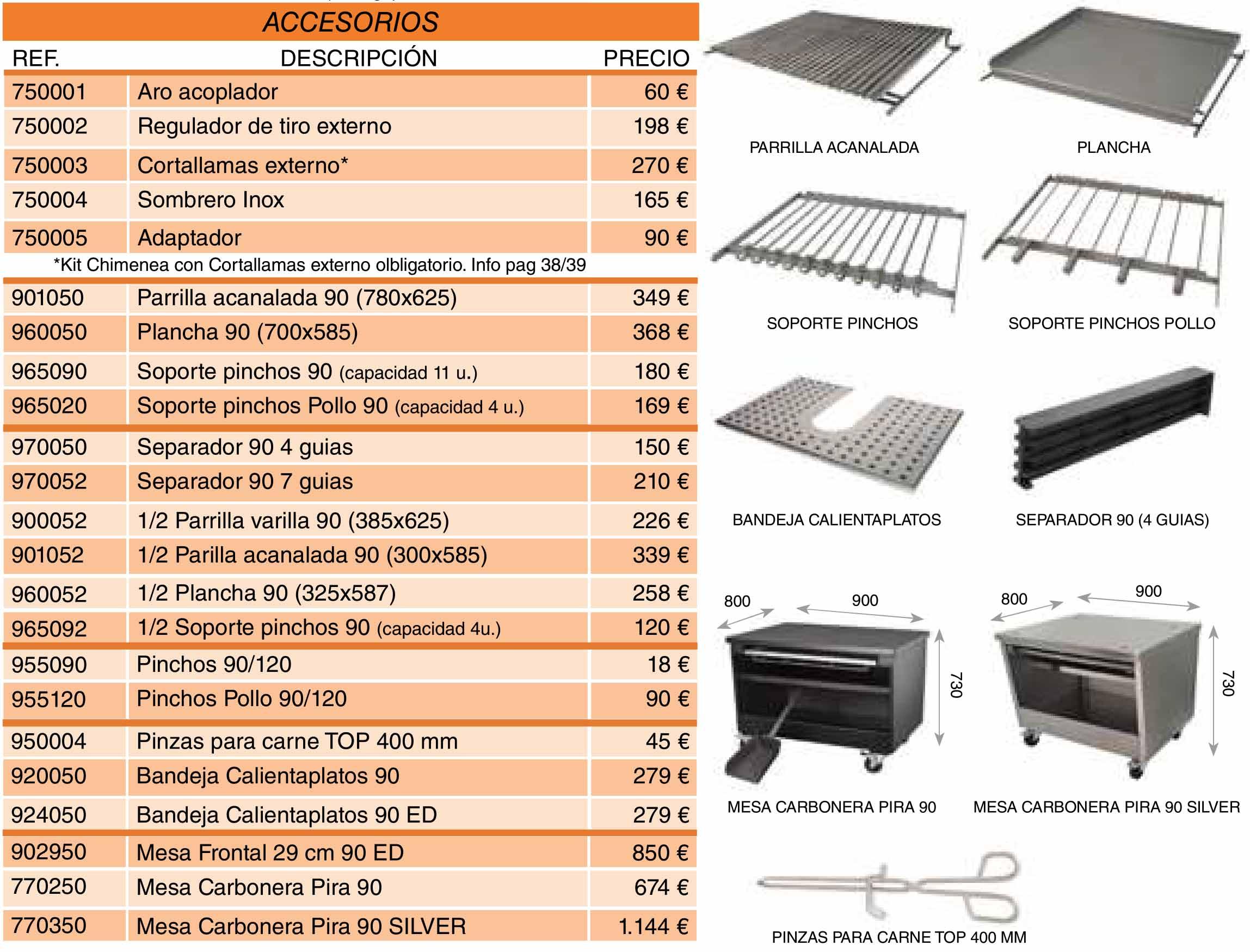 accesorios-opcionales-horno-de-carbon-pira-90lux