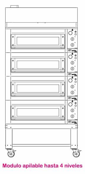 horno de pizza fm stz-633 apilable hasta 4 niveles