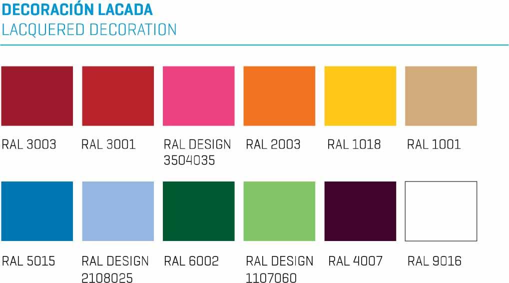 vitrina expositora de helados CORAL colores de serie